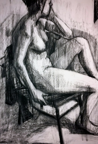 Figure drawing by G. Kootier